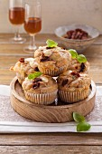 Mozzarella muffins with dried tomatoes
