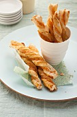 Puff pastry sticks with Appenzeller cheese