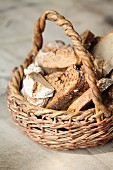 Rustic bread in a basket