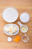 Ingredients for shortbread biscuits