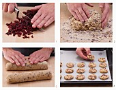 How to make oatmeal cookies with dried cranberries