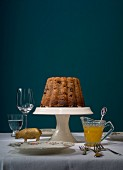 Plum pudding with whiskey