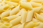 A close-up of penne
