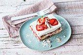 Strawberry tiramisu with orange liqueur
