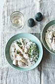 White asparagus and chicken ragout