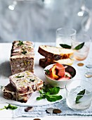 Turkey and Pistachio Terrine with Pickle Nectarines
