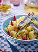 Potato salad with sardines