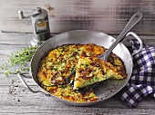 A zucchini noodle frittata with alpine cheese