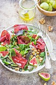 Fig salad with bresaola