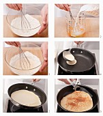 Preparing a classic pancake