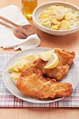 Viennese-style pork schnitzel with potato salad