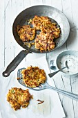 Lupin rostis with sour cream