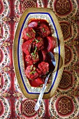 Lamb chop with beetroot (Iraq)
