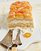 Tiramisu with candied kumquats