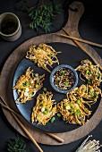 Enoki mushroom fritters (Asia)