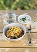 Buchweizen-Sellerie-Salat mit Apfel und Minze
