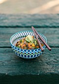 Asian glass noodle salad with cucumber and mango