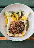 Honey and mint quinoa with orange fennel