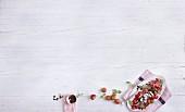 Erdbeer-Ziegenkäse-Carpaccio mit Kakao-Aceto