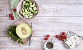 Klassische Salatzutaten