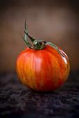 A red zebra tomato