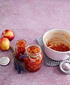 Caramelised nectarine jam with lavender