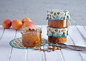 Apricot preserve with rum
