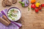Zutaten für Snacks und Brotaufstriche