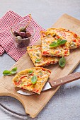 Vegetarian frittata with red pepper