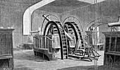 Lick Observatory telescope, USA, 19th Century illustration