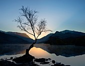 Llyn Padarn and Snowdon, Wales, UK
