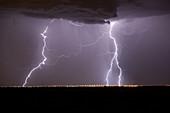 Lightning strikes, Colorado, USA