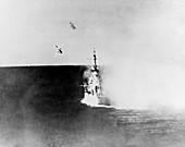Japanese Kamikaze attack on USS Columbia, 1945