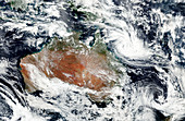 Cyclone Debbie off Australian coast