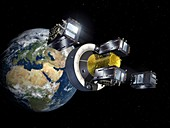Orbital deployment of Galileo satellites, illustration