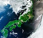 Japan, satellite image