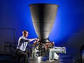 Orion spacecraft engine tests, 2016