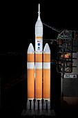 Orion spacecraft test flight preparations, 2014