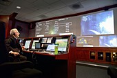 Orion spacecraft test flight control centre, 2014