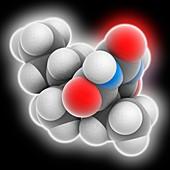 Pentobarbital drug molecule