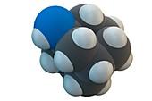 Amantadine antiviral drug molecule