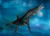 Liopleurodon marine reptile, illustration