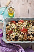 Greek vegetable bake with feta