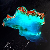 Caicos Islands, satellite image