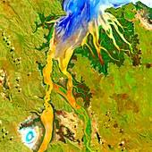 Ord River estuary, satellite image