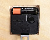 AA battery in a clock