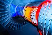 Aircraft engine model.