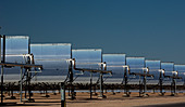 Parabolic troughs at a solar power station, USA