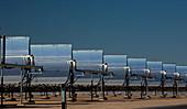 Parabolic troughs at a solar power station, USA