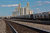 Rail cargo loading facility